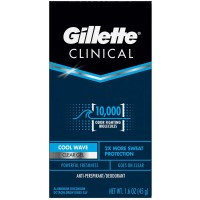 Gillette Clinical Endurance Tough Protection Clear Gel Anti-Perspirant & Deodorant, Cool Wave 1.60 oz [047400650633]