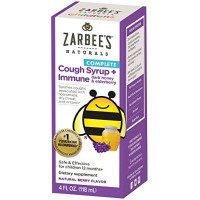 ZarBee's Naturals  Children's Complete Daytime Cough Syrup + Immune with Dark Honey & Elderberry, Natural Berry Flavor 4 oz [858438005735]