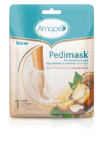 Amope  Pedimask Foot Sock Mask, Macadamia Oil Essence, Blend Of Moisturizers To Rejuvenate & Soothe Your Feet [051400963259]