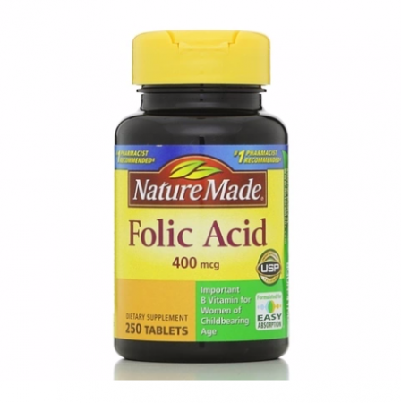 Nature Made Folic Acid 400 mcg Tablets 250 ea [031604012748]