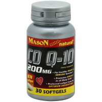 Mason Natural CoQ-10 Softgels 200 mg 30 ea [311845146281]