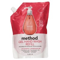 Method Gel Hand Wash Refill, Pink Grapefruit Scent 34 oz [817939006559]