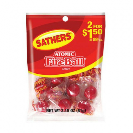 Sathers Atomic Fireballs 12 pack (2.15oz per pack)   [075602101059]