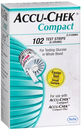 ACCU-CHEK Compact Test Strips 102 Each [075537598849]