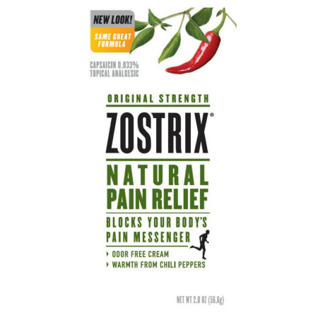 Zostrix Original Strength Natural Pain Relief Cream 2 oz [760569442023]