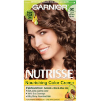 Garnier Nutrisse Nourishing Color Creme, 60 Light Natural Brown 1 ea [603084242665]