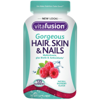 Vitafusion Gorgeous Hair, Skin & Nail Multivitamins Gummies, Natural Raspberry Flavor 135 ea [027917020068]