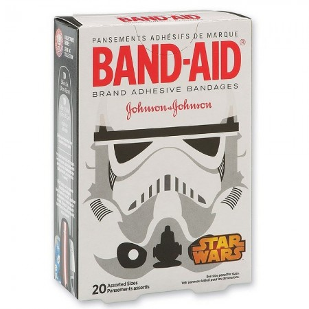 BAND-AID Adhesive Bandages, Star Wars Collection, Assorted 20 ea [381371162864]