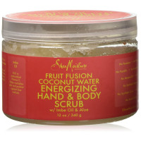Shea Moisture Fruit Fusion Coconut Water Energizing Hand Body Scrub 12 oz [764302226437]
