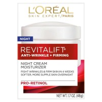 L'Oreal Paris, RevitaLift Anti-Wrinkle + Firming Night Cream Moisturizer 1.7 oz [071249104590]