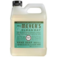 Mrs. Meyers Clean Day Hand Soap Refill, Basil Scent 33 oz [808124141636]