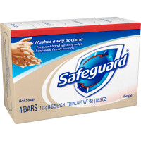 Safeguard Beige Bar Soap 4 oz, 4 bars [037000088332]