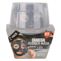LINDSAY HOME AESTHETICS 2 Pack Charcoal Rubber Mask  5.04 oz [192084000035]